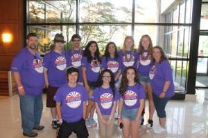 Youth Gathering purple shirts